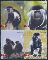 2004 WWF: Colobus majom sor 4-es tömbben Mi 1745-1748