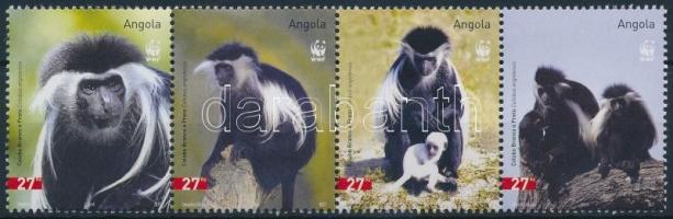 2004 WWF: Colobus majom sor vízszintes 4-es csíkban Mi 1745-1748