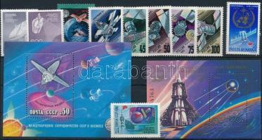 1973-1993 Space Exploration 2 sets + 2 blocks + 2 stamps, 1973-1993 Űrkutatás, műhold motívum 2 db sor + 2 db blokk + 3 db önálló érték