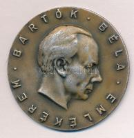 DN Bartók Béla emlékérem ezüstözött Br érem (60mm) T:2 kopott ezüstözés