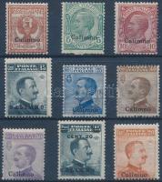 1912 Forgalmi 9 érték Calimno felülnyomással Mi 3-11 I