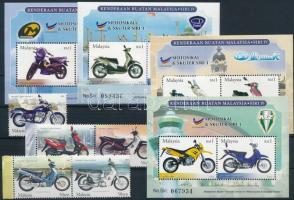 2003 Motorkerékpár sor Mi 1202-1206 + blokksor Mi 78-81