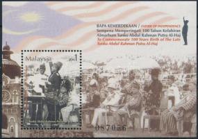 2003 100 éve született Tunku Abdul Rahman miniszter blokk Mi 73
