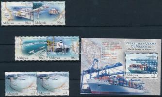 2004 Kikötő sor, a záróérték párban Mi 1262-1266 + blokk Mi 87