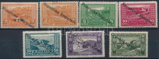 Definitive 7 stamps, Forgalmi sor 7 értéke  (hiányzik/missing Mi 122)
