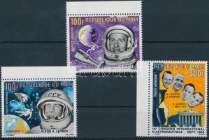 1966 Űrkutatás ívszéli sor Mi 117-119