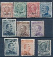 1912 Forgalmi 10 érték Leros felülnyomással Mi 3-12 VI
