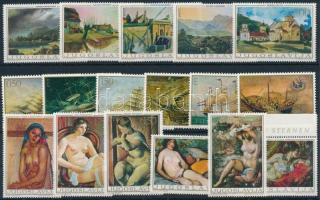 1968-1969 Paintings 17 stamps, 1968-1969 Festmény motívum 17 klf bélyeg, közte sorok