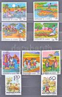 Vegyes magyar és külföldi bélyegek sok motívummal 2 közepes berakóban