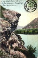 Altai Mountains; Le roc Kidil-Otrou prés de la riviére Katoum / rock, river, TCV card (EK)