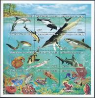 1998 Tengeri állatok kisív Mi 1506-1517