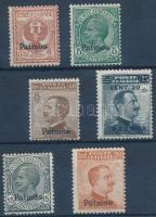 1912 Forgalmi 6 érték Patmos felülnyomással Mi 3-4, 8, 10-12 VIII