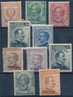 1912 Forgalmi 10 érték Patmos felülnyomással Mi 3-4, 8, 10-12 VIII