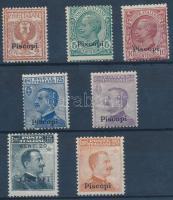 1912 Forgalmi 7 érték Piscopi felülnyomással Mi 3-5, 7, 9-11 IX