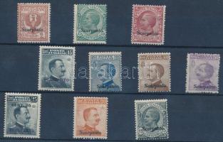 1912 Forgalmi 10 érték Scarpanto felülnyomással Mi 3-12 XI