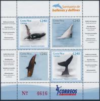 2008 Bálnák és delfinek blokk Mi 26