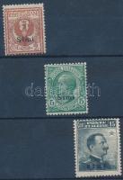 1912 Forgalmi 3 érték Simi felülnyomással Mi 3-4, 6 XII