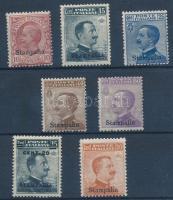 1912 Forgalmi 7 érték Stampalia felülnyomással Mi 4-11 XIII