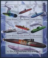 Submarines and whales minisheet, Tengeralattjárók és bálnák kisív