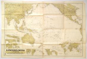 1941 A Csendes-óceán, 1:25000000, Magyar Királyi Honvéd Térképészeti Intézet, hajtva, 63×92 cm