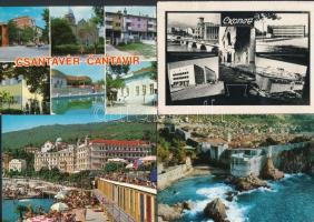 95 db MODERN jugoszláv városképes lap, sok hajóval / 95 modern Yugoslavian town-view postcards with many ships