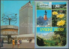 107 db MODERN jugoszláv, csehszlovák, lengyel és NDK városképes lap / 107 modern Yugoslavian, Czechoslovakian, Polish and East German town-view postcards
