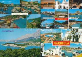 83 db MODERN jugoszláv, francia és spanyol városképes lap / 83 modern Yugoslavian, Spanish and French town-view postcards