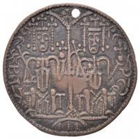 1172-1196. Rézpénz Cu III. Béla (3,21g) T:2-,3 lyuk. Huszár 72., Unger I.: 114.