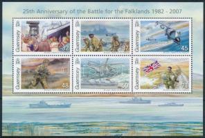 2007 A falklandi háború 25. évfordulója blokk Mi 44