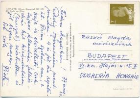 1968-1974 Különféle hírességeknek címzett levelezőlapok (Petri Endre, Raskó Magda, Földi Teri, Békés Itala), összesen 5 db