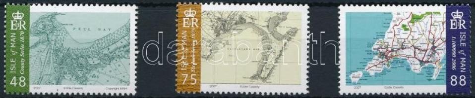 2007 Térképek 3 db érték Mi 1388-1390