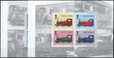 1998 Vasút 2 db bélyegfüzet lap Mi 763-766