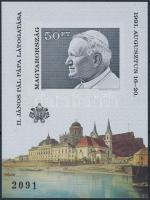 1991 II. János Pál pápa magyarországi látogatása vágott blokk (4.000)