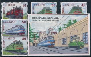Electric locomotives set + block, Elektromos mozdonyok sor + blokk