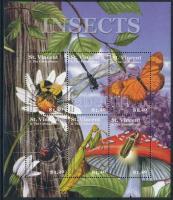 Insects and spiders mini sheet, Rovarok és pókok kisív