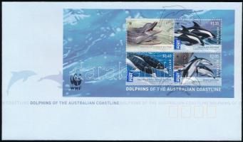 Dolphin block FDC, WWF: Delfinek blokk FDC