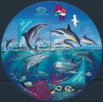Delfinek, Bélyegkiállítás blokk Dolphins, Stamp Exhibition block