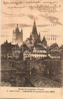 Lausanne, Cathédrale / cathedral, etching style, s: Alexis Forel (EK)