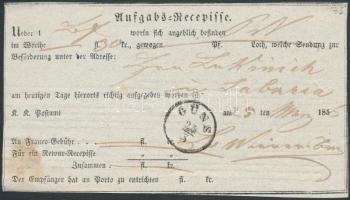 1856 Aufgabs Recepisse GÜNS