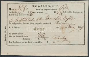 1859 Aufgabs Recepisse GÜSSING