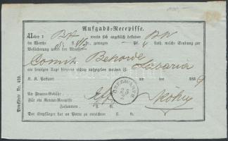 1859 Aufgabs Recepisse OBERWARTH
