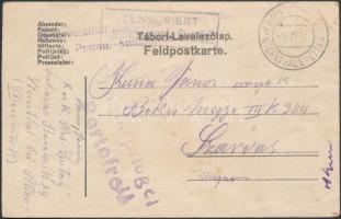 """Field postcard """"Reservespital Lukavae in Sternthal..."""" + """"KRIEGSPITAL d STERNTHAL b PETTAU"""", Tábori posta levelezőlap """"Reservespital Lukavae in Sternthal..."""" + """"KRIEGSPITAL d STERNTHAL b PETTAU"""""""
