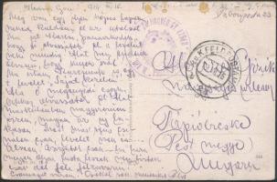 """Field postcard """"M.KIR. 23. HONVÉD GY.EZRED PARANCSNOKSÁG"""" + """"FP 23 b"""", Tábori posta képeslap """"M.KIR. 23. HONVÉD GY.EZRED PARANCSNOKSÁG"""" + """"FP 23 b"""""""
