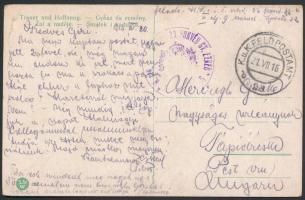 1916 Tábori posta képeslap / Field postcard M.KIR. 23. HONVÉD GY.EZRED PARANCSNOKSÁG + FP 23 b