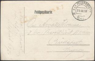 1918 Tábori posta levelezőlap / Field postcard FP 637 a