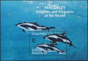 1995 Delfin; Bélyegkiállítás blokk Mi 331