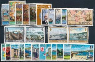 Nagy-Britannia - Alderney, Guernsey 1979-1983 27 db klf bélyeg, közte teljes sorok, párok