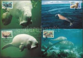 WWF: Dugong set on 4 CM, WWF: Dugong sor 4 db CM