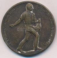 Berán Lajos (1882-1943) ~1920. Az érdem elismeréséül - A ,,Falu Országos Szövetség Br emlékérem lekopott ezüstözéssel (45mm) T:2,2-