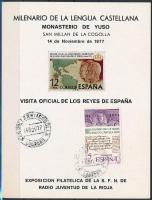1977 1000 éves a spanyol nyelv Mi 2321 emlékalpon